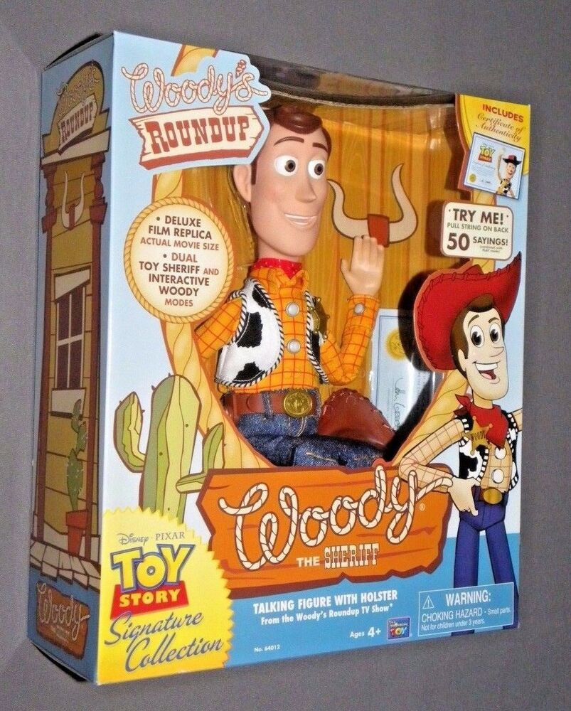 toy story woody 39 s roundup talking sheriff woody doll ebay. Black Bedroom Furniture Sets. Home Design Ideas