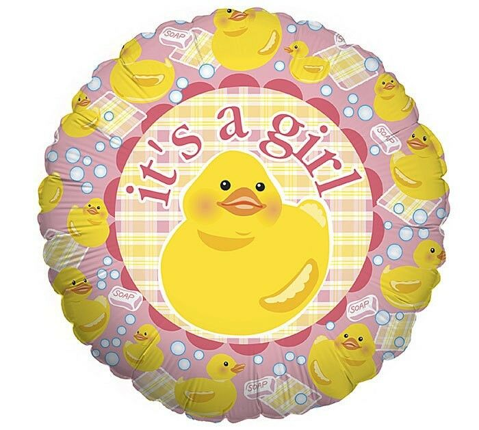 It 39 s a girl 18 balloons baby shower ducky decorations ebay for It s a girl dekoration