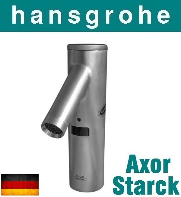 hansgrohe axor starck classic 10105800 stainless steel electronic basin mixernib ebay. Black Bedroom Furniture Sets. Home Design Ideas