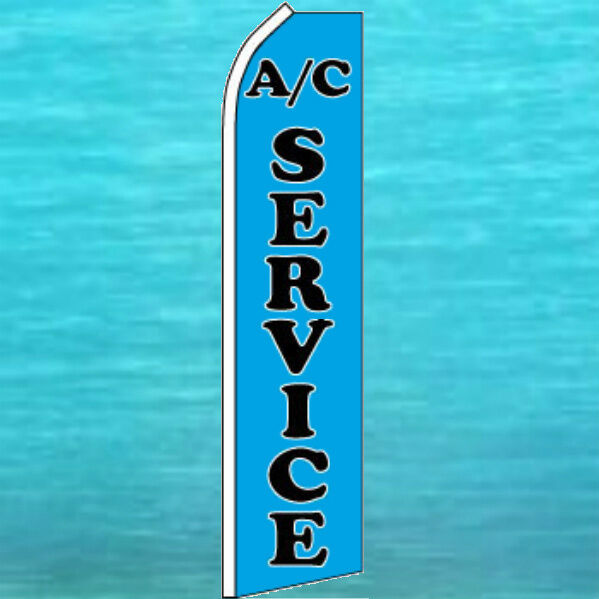 Auto Repair Shop Signs >> AC SERVICE FLUTTER FLAG Auto Repair Advertising Sign Feather Swooper Bow Banner | eBay
