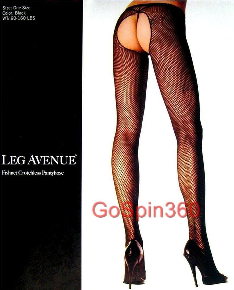 ce390199a495a Details about CROTCHLESS FISHNET Pantyhose WHITE O/S