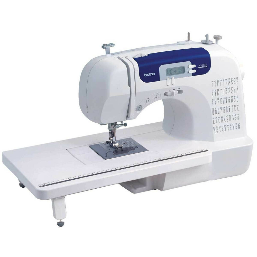 brother cs6000i sewing machine table hard case more new 12502615309 ebay. Black Bedroom Furniture Sets. Home Design Ideas