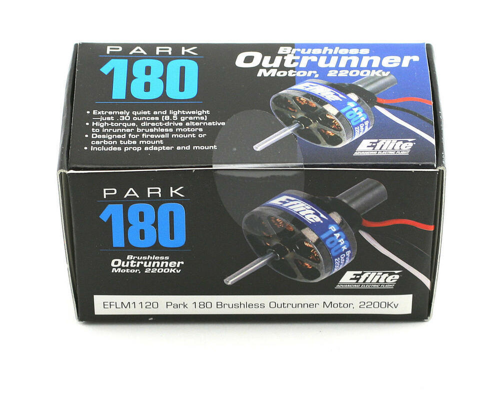 Eflite park 180 electric brushless outrunner rc airplane for Model airplane motors electric
