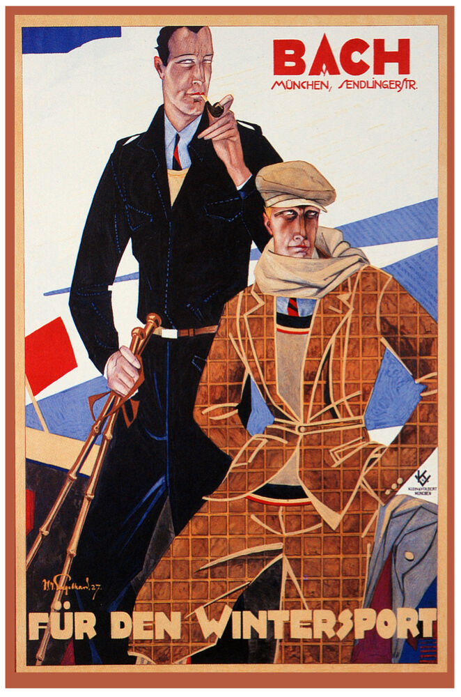 German Vintage Decoration Design Poster Men Fashion Shop