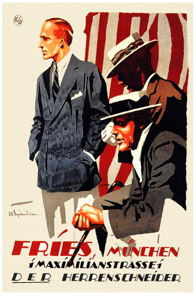 German Vintage Poster Men Fashion Home Art House Decor