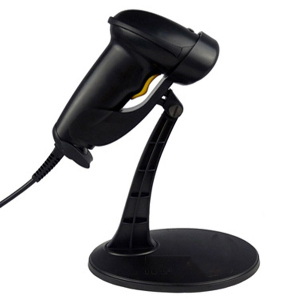 Automatic Laser Usb Barcode Scanner Reader Stand Black For