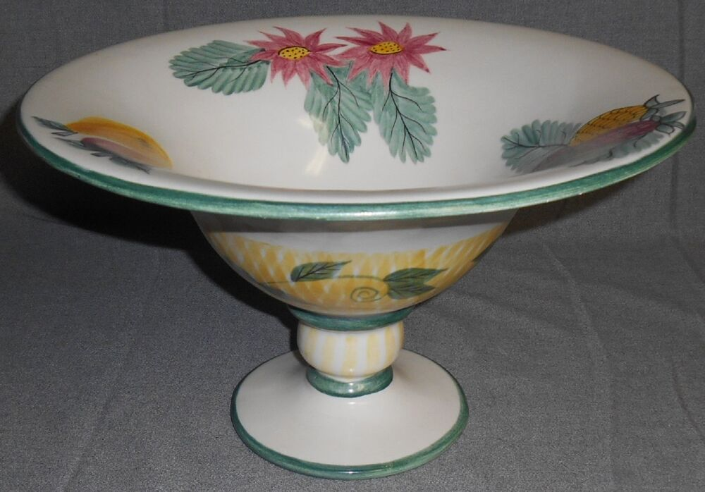 Mikasa summer jewels large footed centerpiece bowl ebay - Footed bowl centerpiece ...