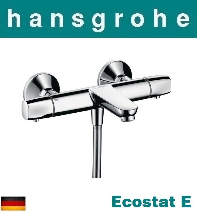 hansgrohe ecostat e 13145000 thermostatic bath mixernib ebay. Black Bedroom Furniture Sets. Home Design Ideas