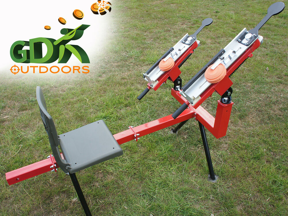 how to use a manual clay pigeon thrower