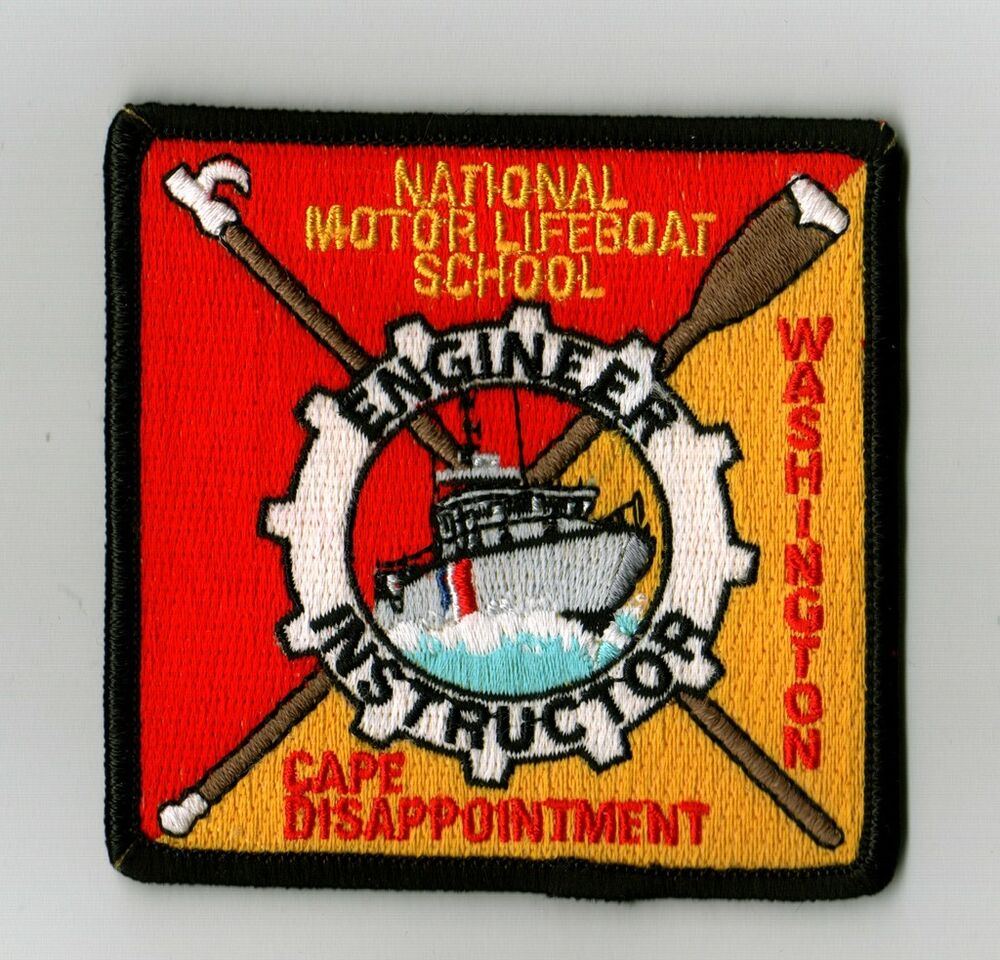 uscg patch national motor lifeboat school engineer