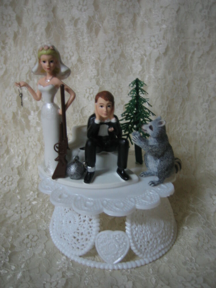 Funny Wedding Cake Toppers Hunting