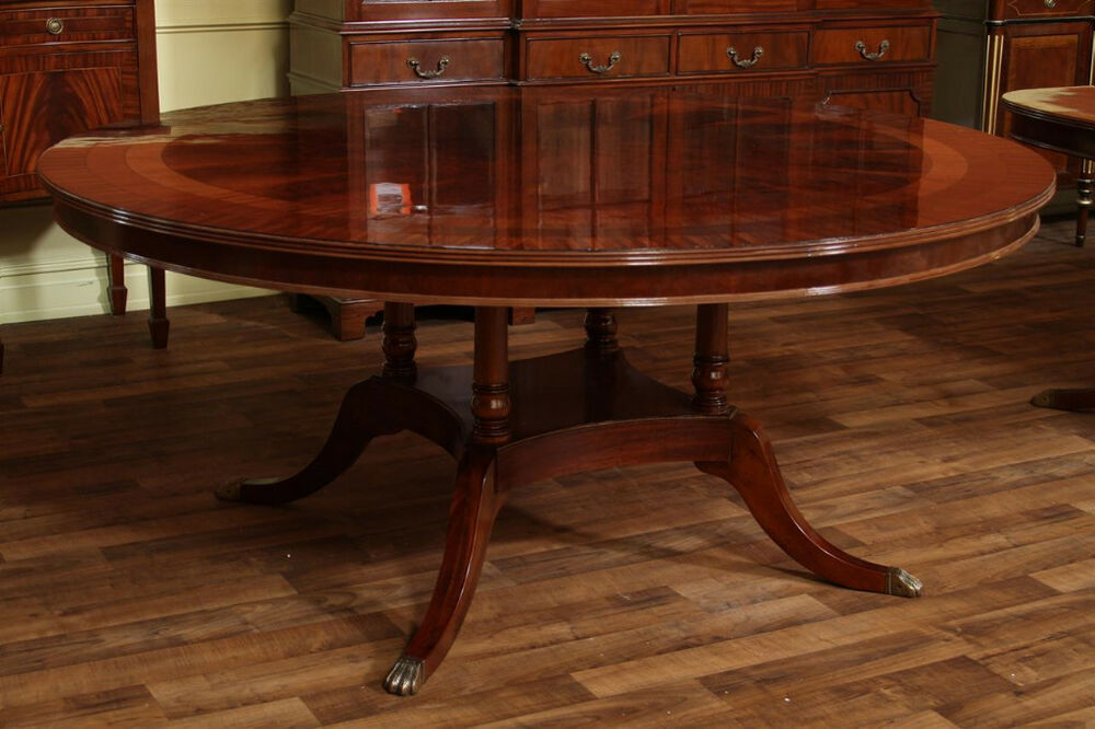 72 round american made dining table flame mahogany ebay. Black Bedroom Furniture Sets. Home Design Ideas