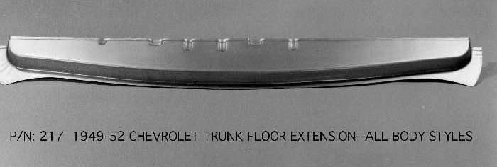 Chevrolet Chevy Trunk Floor Rear Extension 1949 1952 217
