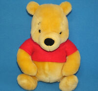 """Gund 100 Acre Collection 8"""" WINNIE THE POOH BEAR Plush Stuffed Beans RED SHIRT"""