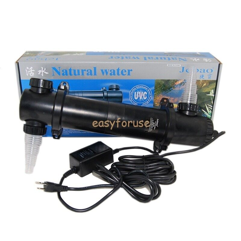 koi fish pond aquarium 36w uv sterilizer clar ifier