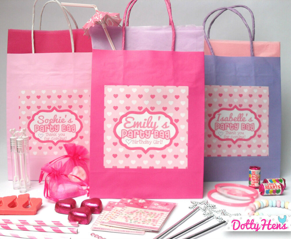 Personalised Pink Pamper Birthday Party Pre Filled Gift