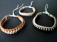 FRIENDSHIP BRACELETS-3 x LEATHER AND STRONG CORD-NEW!