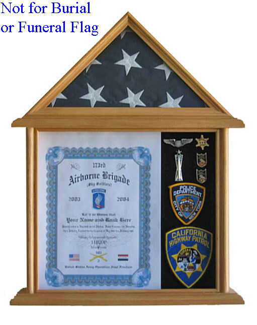 Solid Wood Shadow Box For 3 39 X 5 39 Flag Folded Not For