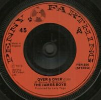 "THE JAMES BOYS over and over 7"" WS EX/"