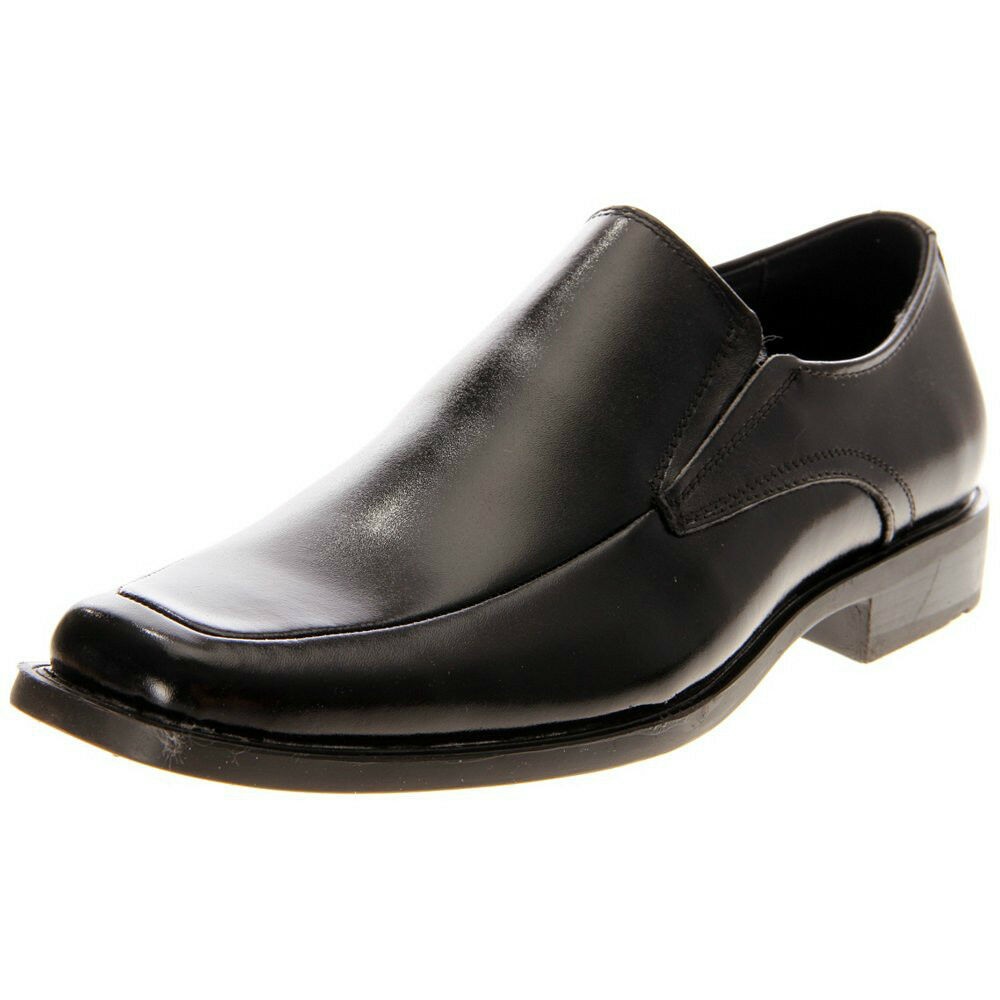cassidy mens black leather slip on comfort