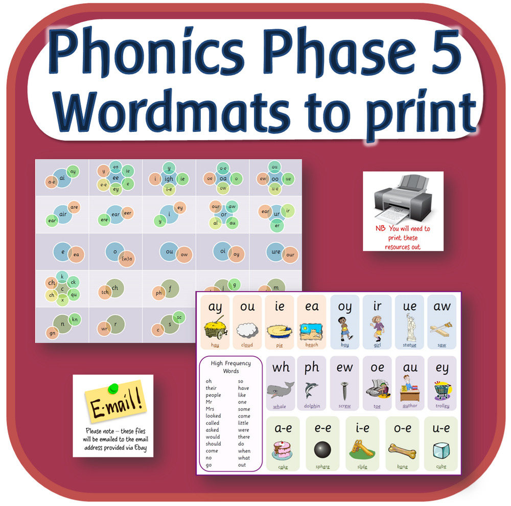 Letters And Sounds Phase 5 Word Help Mats Phonics
