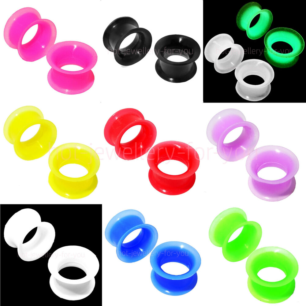 Squishy Ear Plugs : FLESH TUNNEL FLEXIBLE SILICONE EAR PLUG SOFT DOUBLE FLARED EXPANDER 4mm TO 30mm eBay