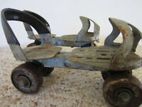 VINTAGE, PAIR OF, CLAMP ON, CHILD'S STEEL ROLLER SKATES