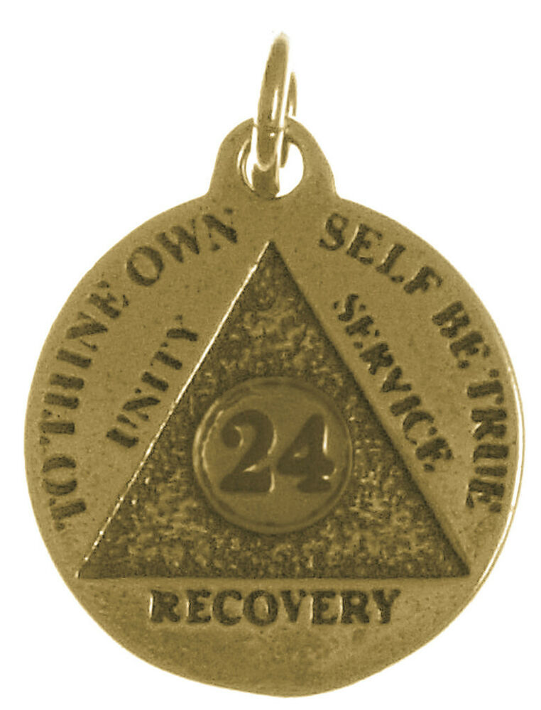 aa alcoholics anonymous jewelry antiqued brass 24 hr