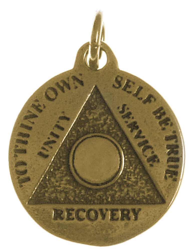 aa alcoholics anonymous jewelry antiqued brass blank