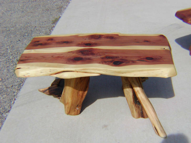 Log Furniture Cedar Coffee Table Lodge Cabin Ebay