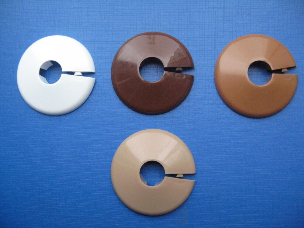 15mm pipe rose collar hole cover available in white teak for 90mm soil pipe collar