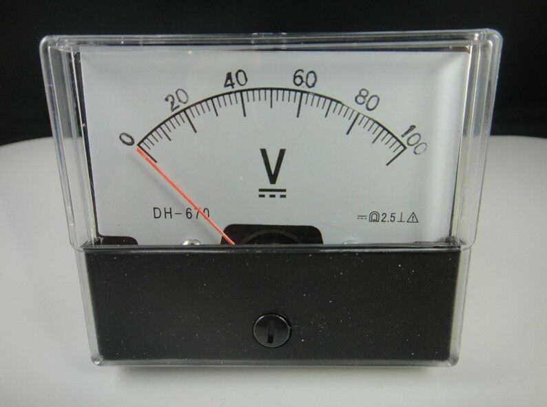 Analog Panel Meter : Analog volt voltage voltmeter panel meter dc v ebay