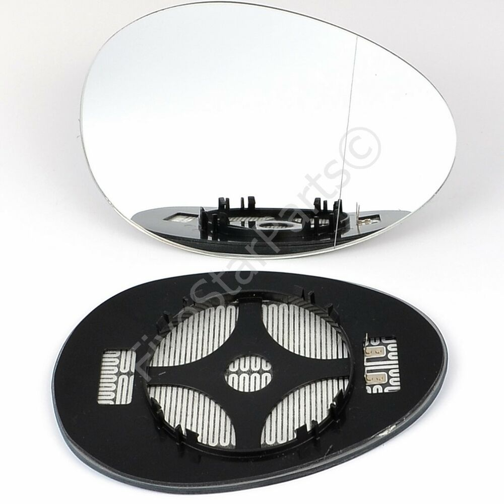 Right Driver Side Wide Angle Mirror Glass For Mini Cooper