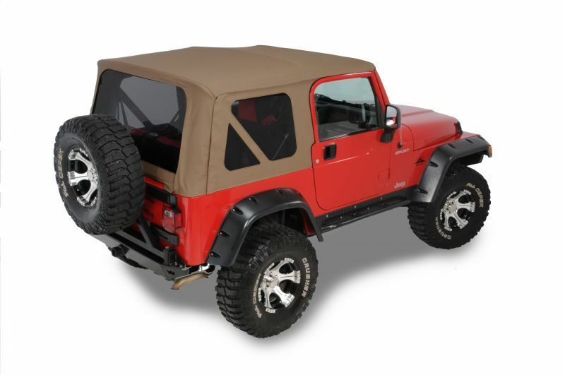 97 06 jeep wrangler tj replacement spice tan soft top tinted windows kit ebay. Black Bedroom Furniture Sets. Home Design Ideas