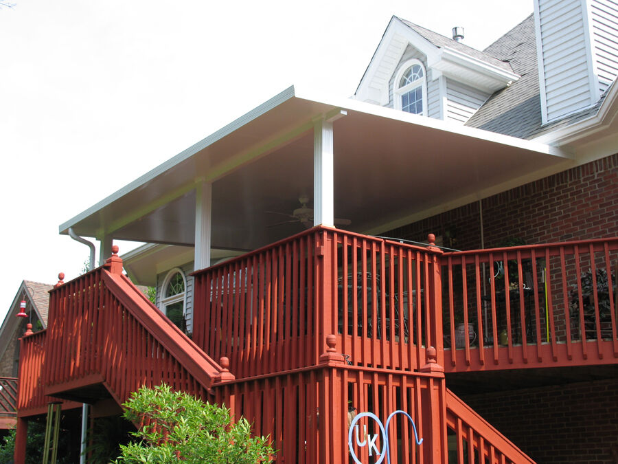 Quality insulated aluminum patio cover kits multiple for Front porch roof kits