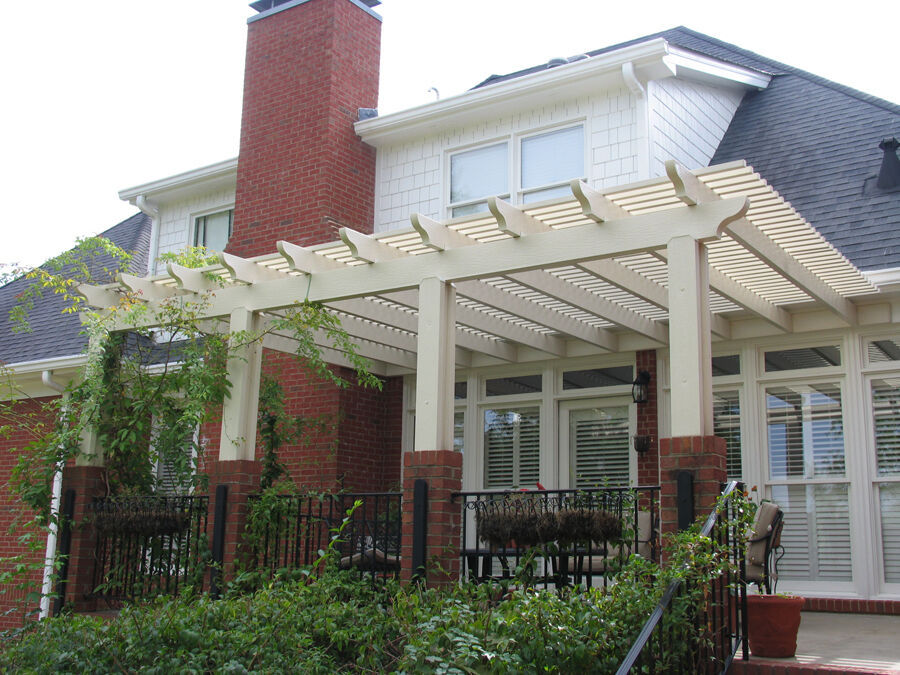 Alumawood aluminum pergola kit lattice shade canopy pergola kit multiple sizes ebay for Pergola aluminium x