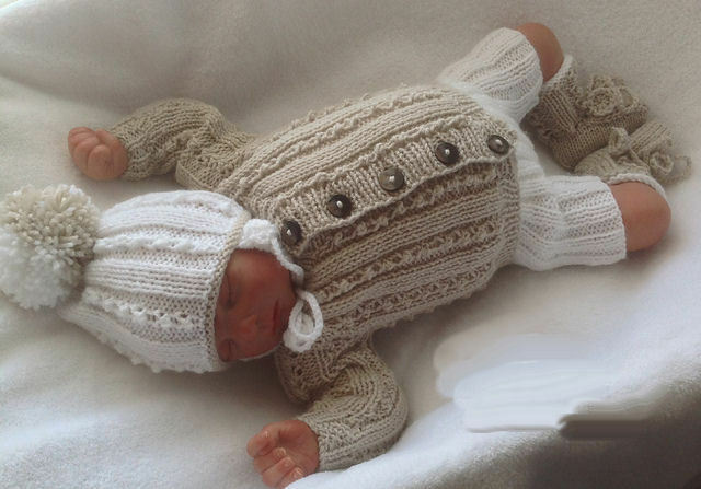 Baby Knitting Pattern DK TO KNIT Boys Cardigan Hat Trousers Booties Reborn Do...