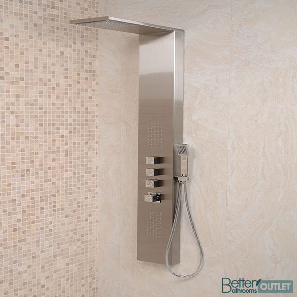 Complete Shower Modern Steel Wall Mounted Thermostatic Tap