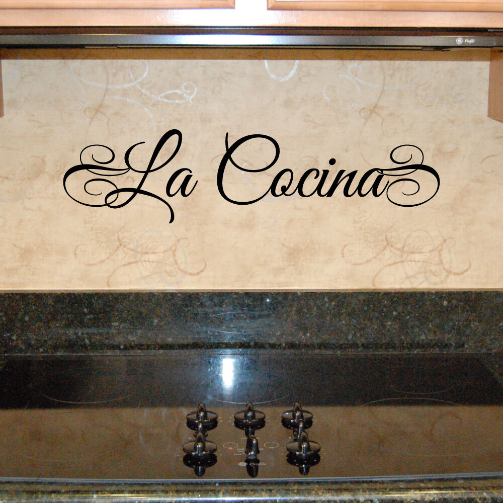 La Italian Kitchen: LA COCINA (Spanish) Or LA CUCINA (Italian) Kitchen Vinyl
