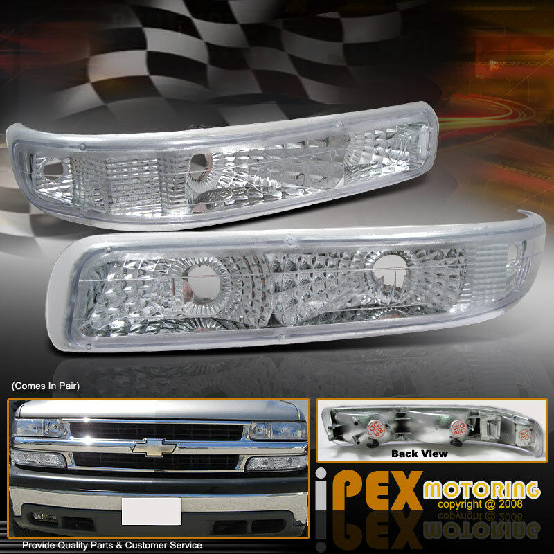 1999 2002 chevy silverado 1500 2500 front bumper turn signal parking lights l ebay