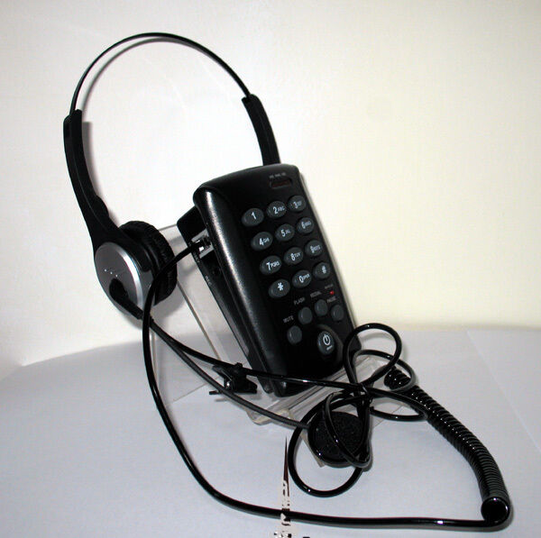 Binaural Corded Headset Telephone Dialpad With MUTE For