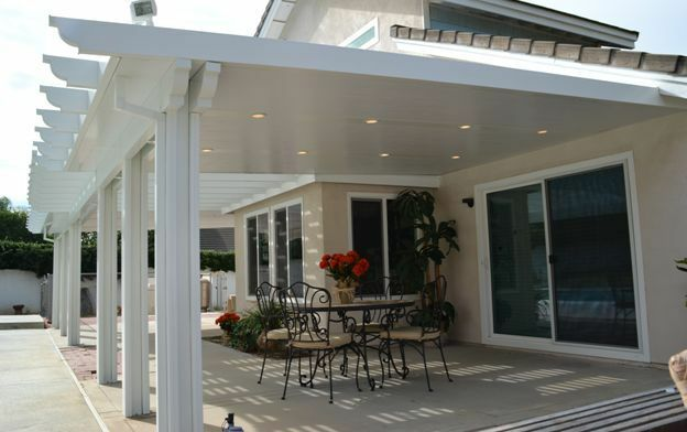 12 39 x 22 39 insulated aluminum patio cover kit w recessed for Covered patio cost