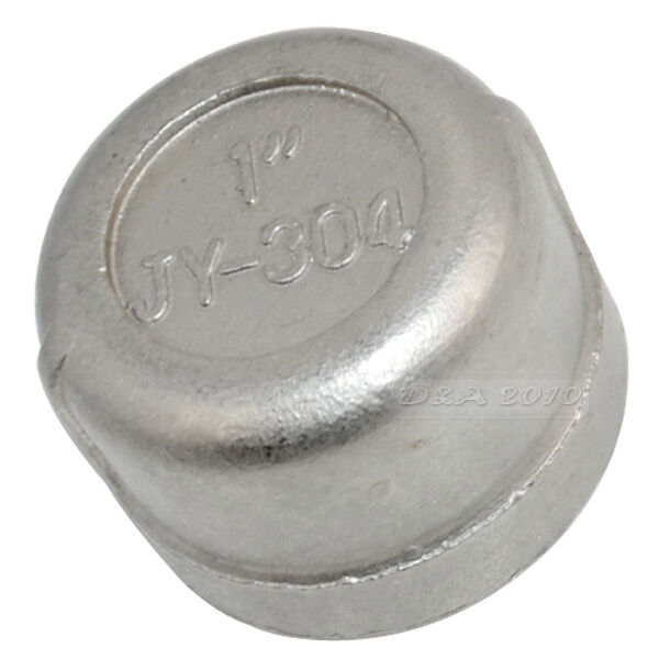 Stainless steel pipe fitting cap quot threaded type ebay