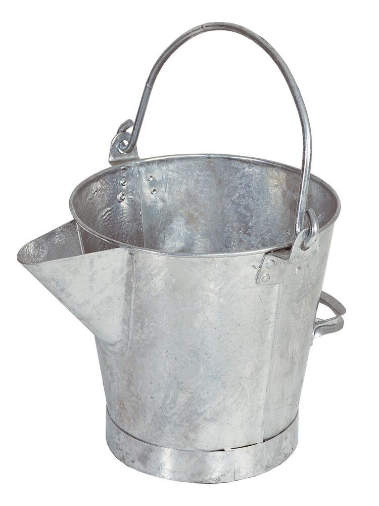Galvanised Steel Pouring Bucket With V Pouring Lip