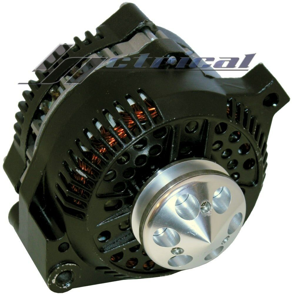 New Alternator Ford Mustang Black W  Billet Pulley 1 One Wire High Output 250amp