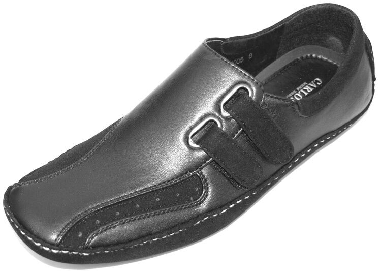 mens loafers black white smart dress casual comfortable