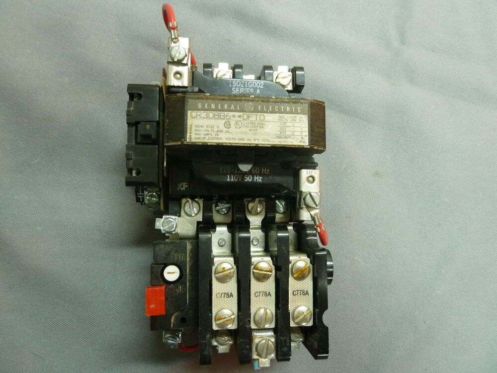 General electric cr308b6 dftd motor starter size 0 ebay for General electric motor starters