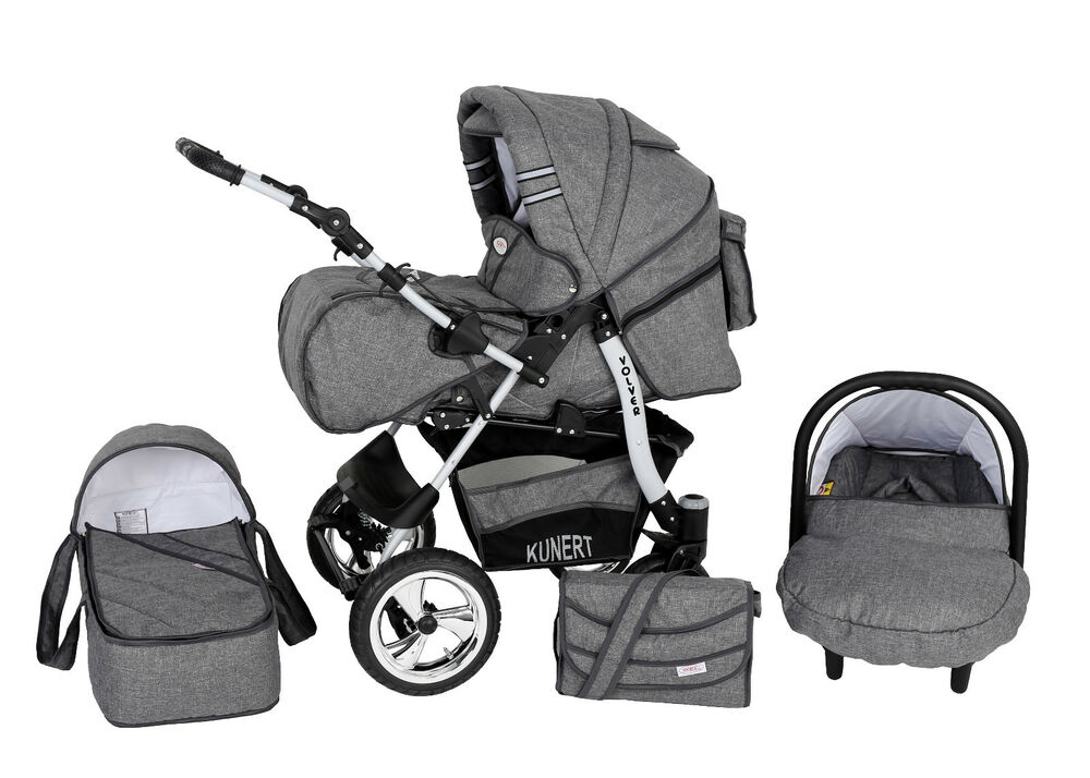 volver kombikinderwagen kinderwagen 3in1 mit babyschale poussette pram child ebay. Black Bedroom Furniture Sets. Home Design Ideas
