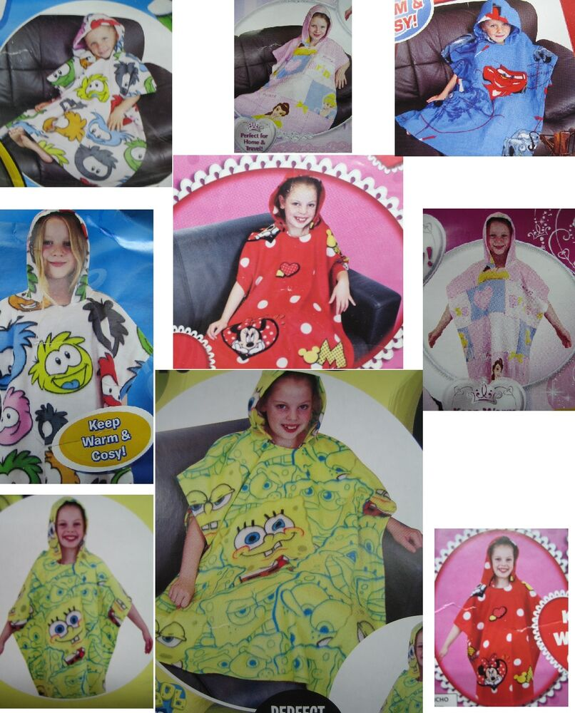 New childrens novelty tv character hooded poncho style for Novelty children s fabric
