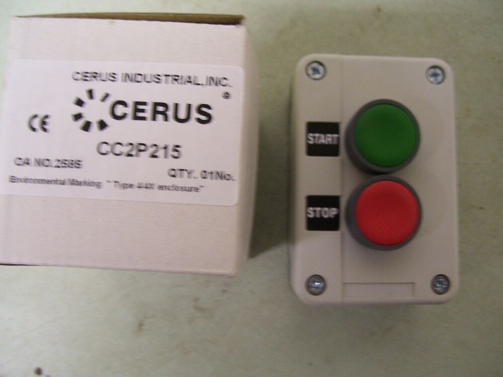 cerus cc2p215 start stop pushbutton station ebay. Black Bedroom Furniture Sets. Home Design Ideas